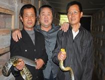 正在讲解养蛇技术